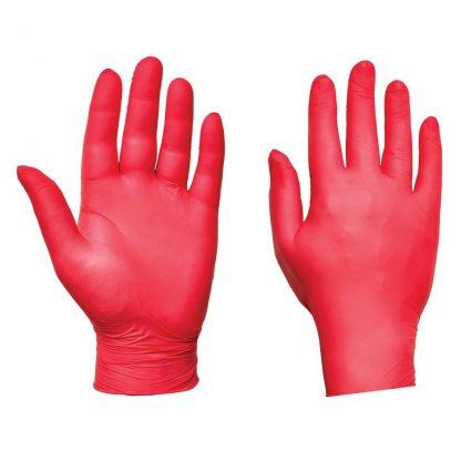 Red Nitrile Gloves