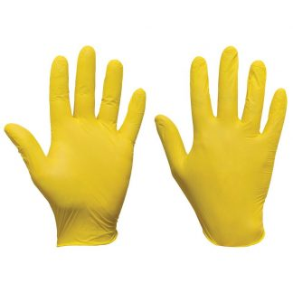 Yellow Nitrile Gloves