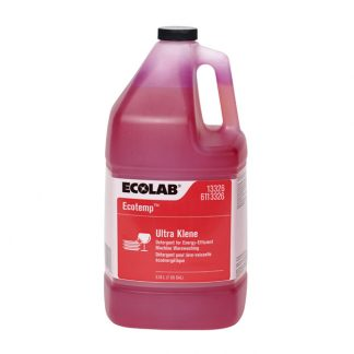 1 x 3.78 Litres (1 US Gal) Ecolab 13326 / 6113326 Ecotemp Ultra Klene - Detergent for Energy-Efficient Machine Warewashing